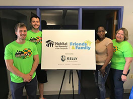 KELLY Rolls Up its Sleeves to Support Habitat for Humanity