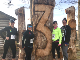 People of KELLY Brave the River Valley Run Trail Half Marathon