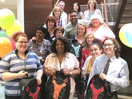 Kelly & Associates Insurance Group (KELLY) donated 200 World Vision SchoolTools Backpacks to Pot Spring Elementary School