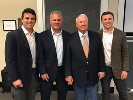 Three generations of the Kelly family presented on family business at the UNC Kenan-Flagler Business School Family Enterprise Center